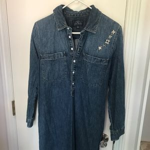 Lucky Brand - Embroidered Heavy Denim Dress